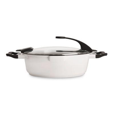 Sauteuse italienne avec couvercle Blanc 28 cm