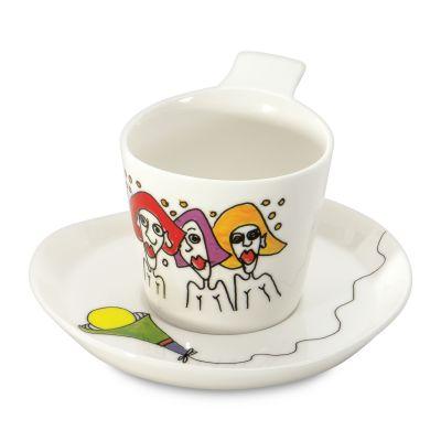 2 x tasse et sous-tasse à café par Codriez