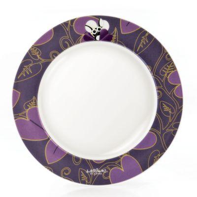 4 x assiette ronde violette