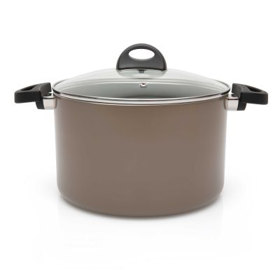 Covered stockpot 24 cm beige