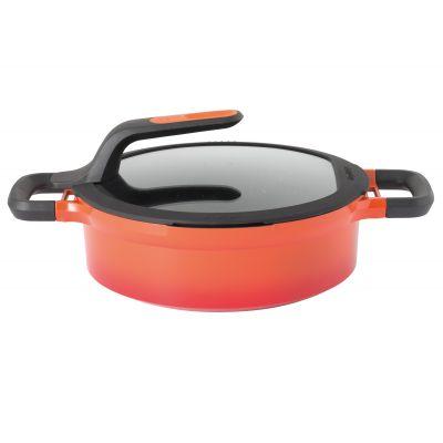 Sauteuse italienne avec couvercle orange 24 cm - Gem