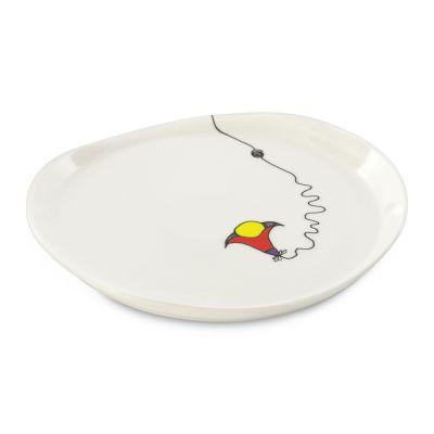 2 x assiette ronde par Codriez 22,5 cm