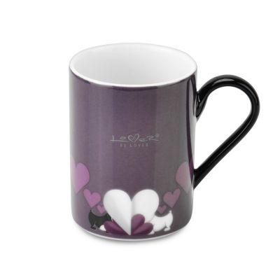 2 x mug à café Violet