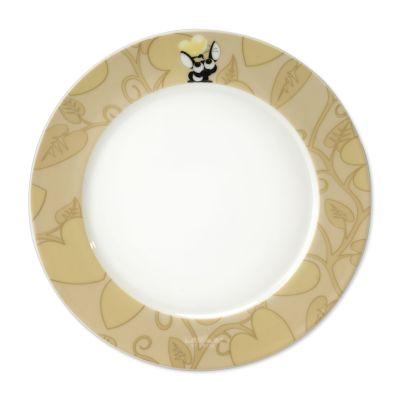 4 x assiette ronde beige