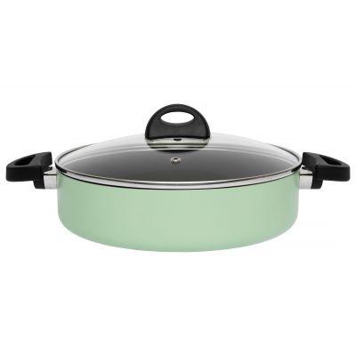 Sauteuse italienne avec couvercle vert 26 cm
