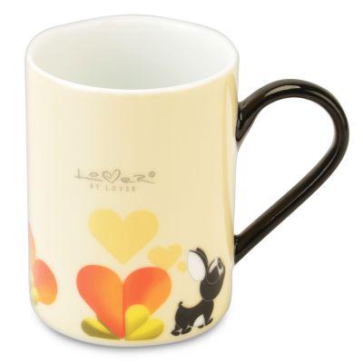 2x coffee mug beige